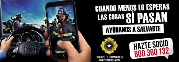 CAMPAñA DE SOCIOS COOPERADORES CUERPO DE BOMBEROS SAN PEDRO DE LA PAZ.